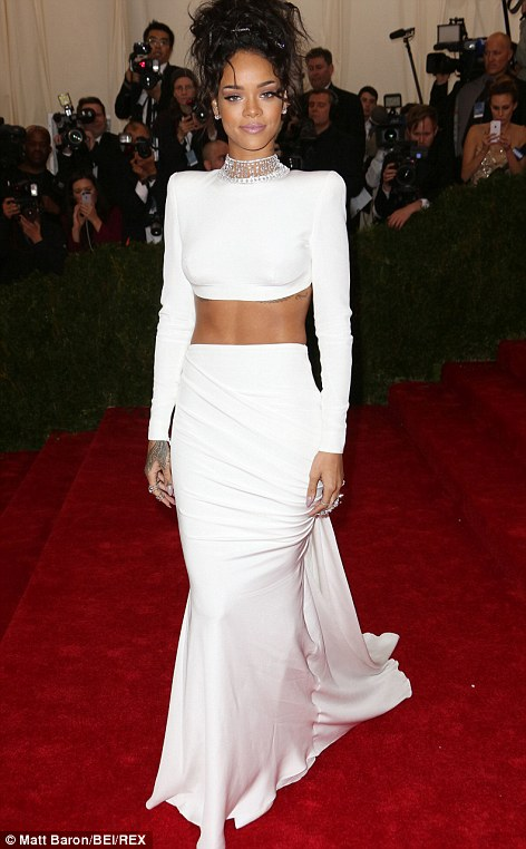 Rihanna looks stunning in Stella McCartney gown