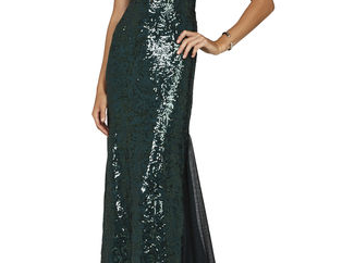 EVETTE SLEEVELESS DEEP V-NECK GOWN From BCBG £532