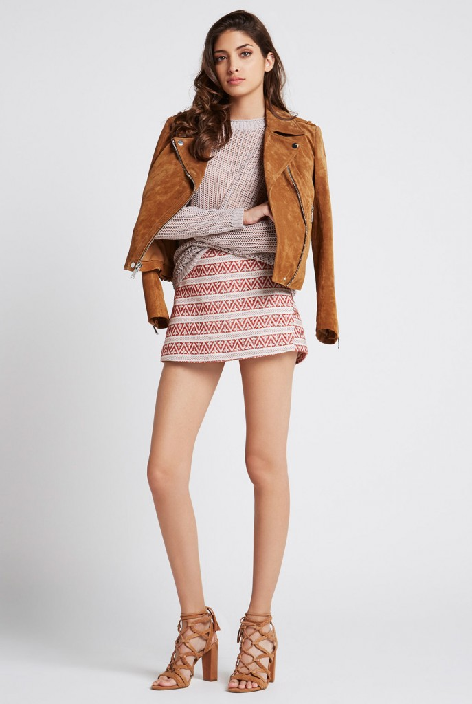 Zippered Suede Moto Jacket £334.00